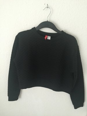 H&M Divided cropped Sweater Schwarz