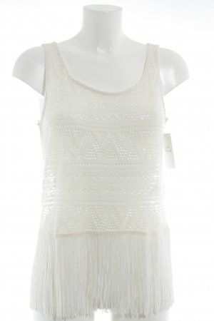 H&M Divided Cropped Top creme Lochstrickmuster Beach-Look