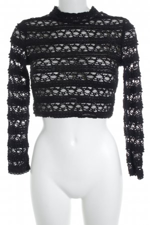H&M Divided Cropped Top schwarz Mustermix Party-Look