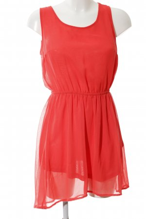 H&M Divided Cut Out Dress red casual look