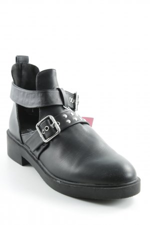 H&M Divided Cut-Out-Stiefeletten schwarz Casual-Look
