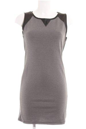 H&M Divided Etuikleid grau-schwarz Business-Look