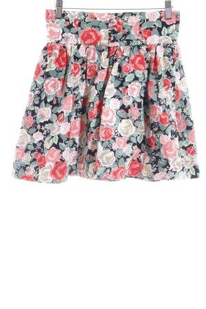 H&M Divided Faltenrock Blumenmuster Romantik-Look