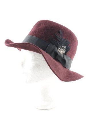 H&M Divided Cappello in feltro rosso scuro stile professionale