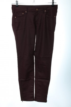 H&M Divided Pantalón de cinco bolsillos marrón look casual