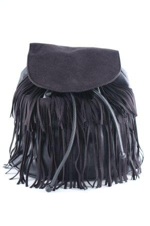H&M Divided Fringed Bag black street-fashion look