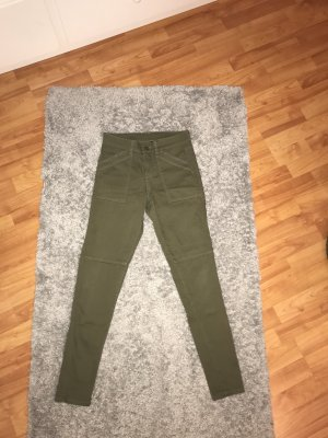 H&M Divided High Waist Jeans khaki