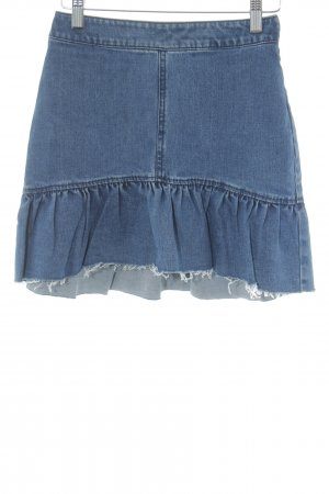 H&M Divided High Waist Rock blau Casual-Look