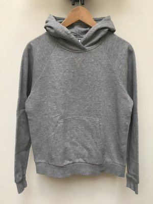H&M Jersey con capucha gris tejido mezclado