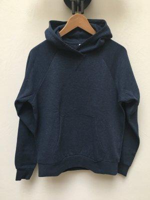 H&M Jersey con capucha azul oscuro tejido mezclado