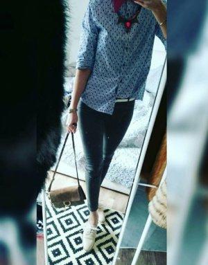 H&M Divided Hose Skinny Slim Fit Röhre Ankle Wildlederlook Lederhose Lederimitat