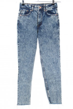 H&M Divided Low-Rise Trousers blue flecked casual look