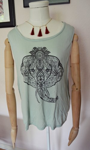 H&M Divided indischer Elefant Shirt Top Mint türkies