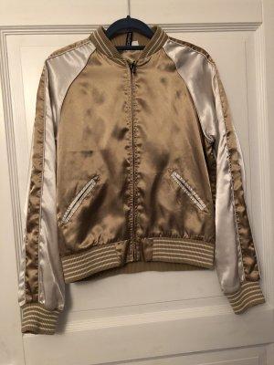 H&M Divided Jacke Trainingsjscke gold/ beige Gr. 40