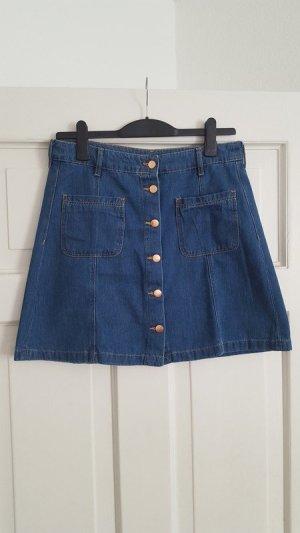H&M Divided Jeans-Rock 42 40 Denim Taille Taschen Knopfleiste