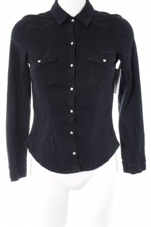 H&M Divided Jeans blouse donkerblauw