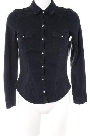 H&M Divided Jeansbluse dunkelblau