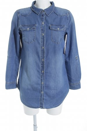 H&M Divided Jeanshemd blassblau minimalistischer Stil