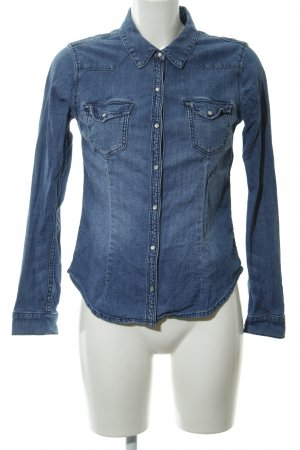 H&M Divided Denim Shirt blue washed look