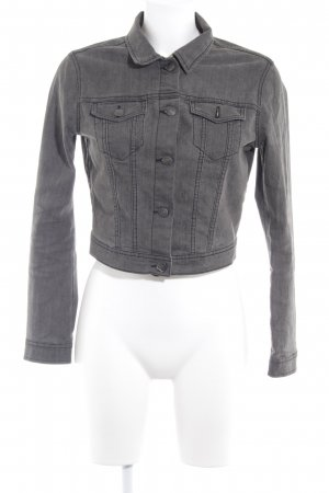 H&M Divided Jeansjacke anthrazit Casual-Look