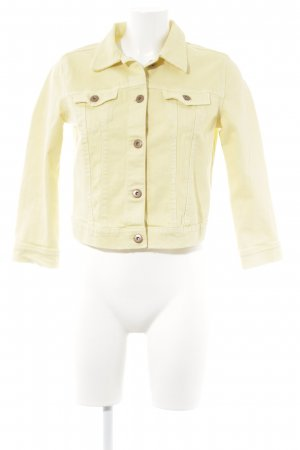 H&M Divided Jeansjacke gelb Casual-Look