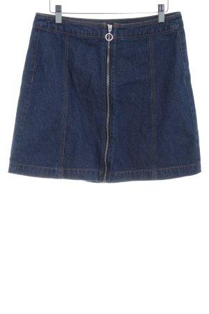 H&M Divided Spijkerrok donkerblauw straat-mode uitstraling