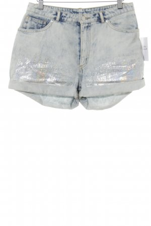 H&M Divided Jeansshorts abstraktes Muster Casual-Look