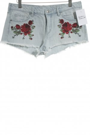 H&M Divided Jeansshorts Blumenmuster Casual-Look