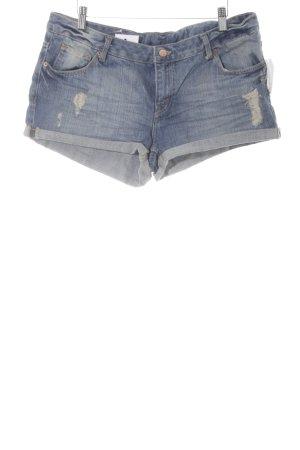H&M Divided Spijkershort staalblauw Jeans-look