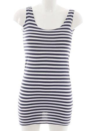 H&M Divided Jerseykleid blau-weiß Streifenmuster Casual-Look