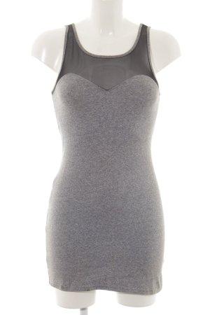 H&M Divided Abito jersey grigio chiaro-nero puntinato stile casual