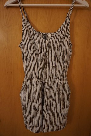 H&M Divided Jumpsuit dark blue-white