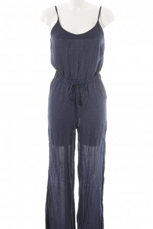 H&M Divided Jumpsuit dunkelblau-schwarz Punktemuster Casual-Look