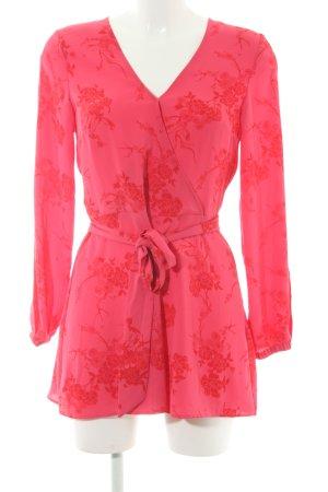 H&M Divided Tuta rosa-rosso motivo floreale stile casual