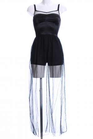 H&M Divided Jumpsuit schwarz extravaganter Stil