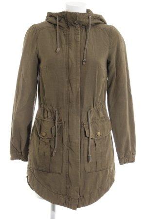 H&M Divided Cappotto con cappuccio cachi stile casual