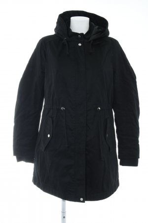 H&M Divided Hooded Coat black casual look