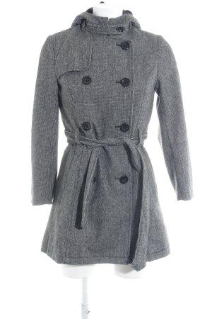 H&M Divided Cappotto con cappuccio nero elegante