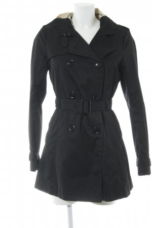 H&M Divided Hooded Coat black elegant