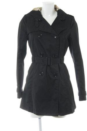 H&M Divided Manteau à capuche noir élégant