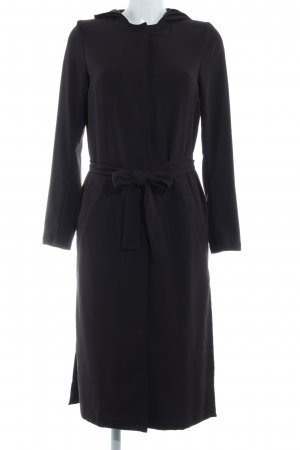 H&M Divided Hooded Coat black simple style