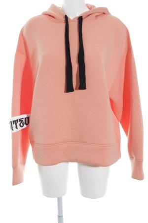 H&M Divided Kapuzensweatshirt apricot-schwarz Street-Fashion-Look
