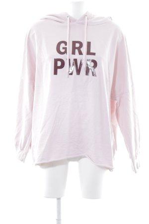H&M Divided Kapuzensweatshirt rosé-karminrot sportlicher Stil