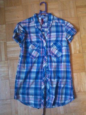 H&M Divided Karo-Bluse Tunika Hemd Gr.36