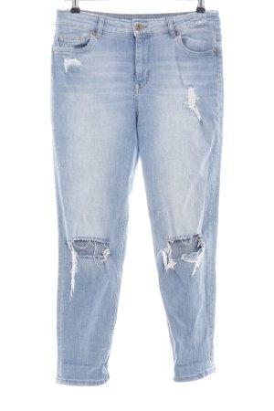 H&M Divided Jeans a carota blu stile casual