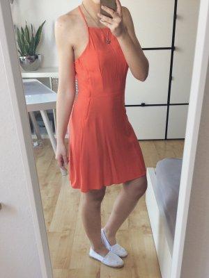 H&M Divided Kleid Skaterkleid orange