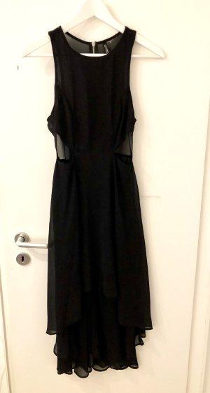 H&M Divided Jurk met langere achterkant zwart