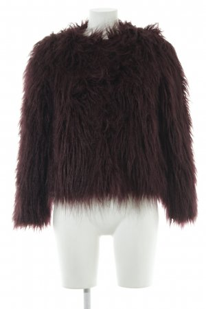 H&M Divided Fake Fur Jacket multicolored extravagant style