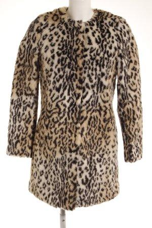 H&M Divided Jas van imitatiebont luipaardprint extravagante stijl