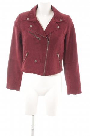 H&M Divided Giacca in ecopelle bordeaux Stile ciclista